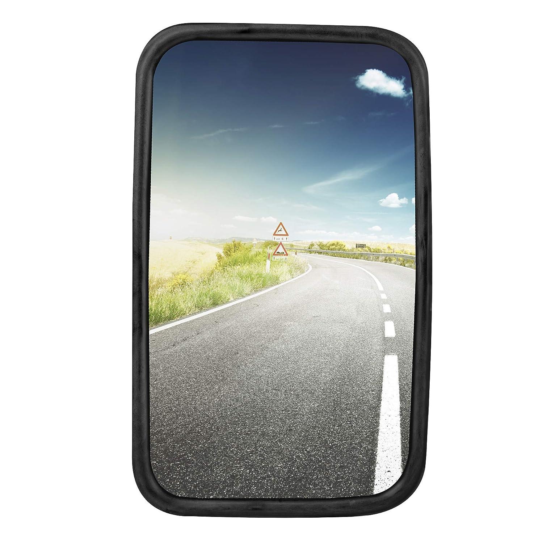 1 x Camions, camionnettes, autobus universelle miroir 30 x 18 cm de hauteur avec fixation flexible StickandShine