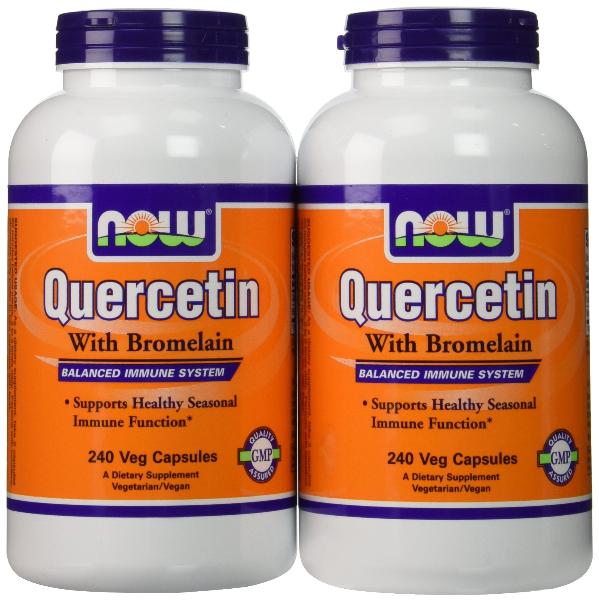 Now Foods Quercetin with Bromelain, Veg-Capsules,480 (2 Pk X 240) by Now Foods