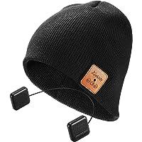 Bluetooth Beanie Hat,Winter Men Women Wireless Smart Music Beanie Cap with HD Stereo Speaker Headphones ,built in MIC hands-free Talking for Outdoor Sports Skiing Running Skating Walking-Black
