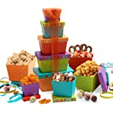 Broadway Basketeers Happy Birthday Celebration Gift Tower
