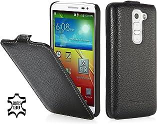 StilGut UltraSlim Case, custodia in vera pelle per LG G2 Mini, nero