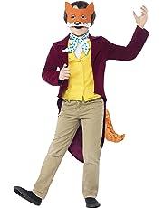 Smiffy's Children's Roald Dahl Fantastic Mr Fox Costume, Jacket, Tail, Waistcoat, Mask & Cravat, Roald Dahl, Size: M, Colour: Multi, 27143