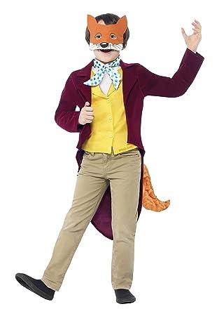 Licensed Mens Fantastic Mr Fox Roald Dahl Costume World Book Week Fancy Dress Up