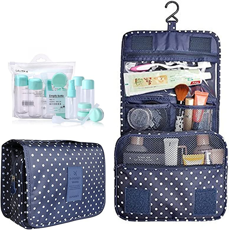 a98c41ee2046 Hanging Toiletry Bag,Portable Travel Camping Organizer Waterproof Cosmetic  Makeup Shaving Bag Toiletry Kit for Men & Women with Sturdy Hook and Travel  ...