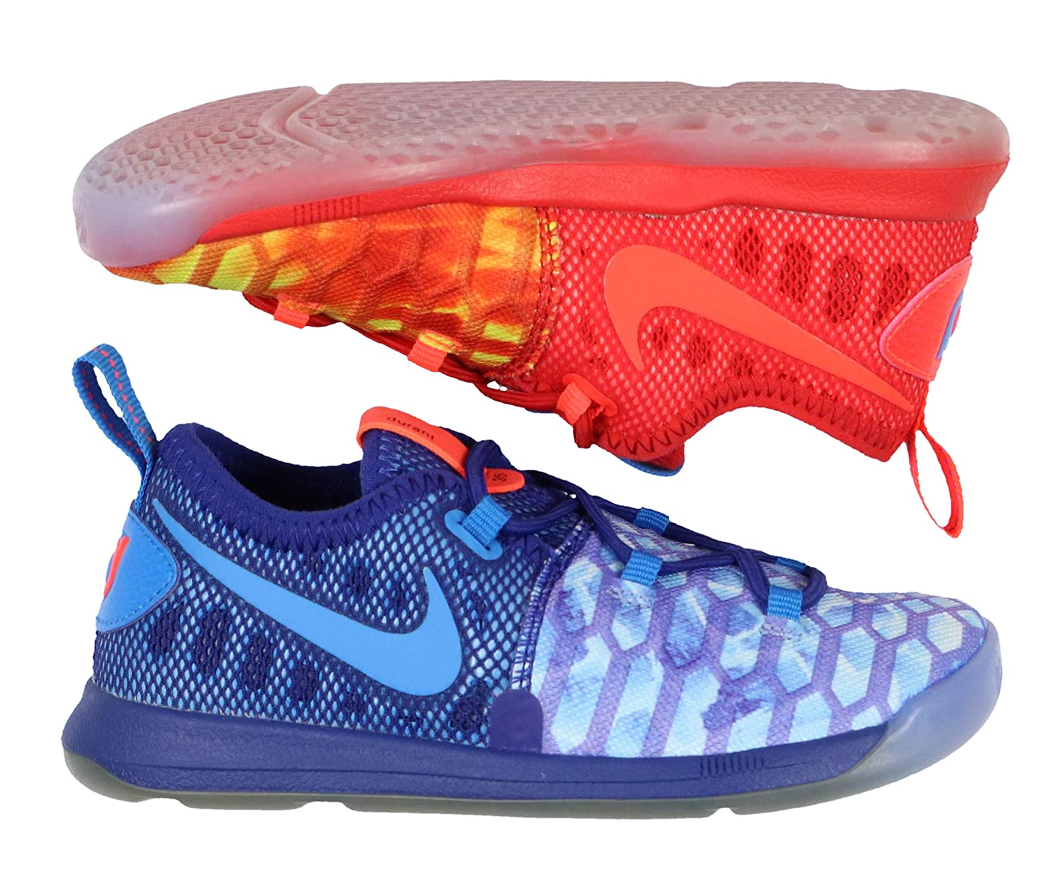 best authentic 1cc94 fbf3f Amazon.com | Nike KD 9 Toddler 855910 400 (Right Blue, Left ...