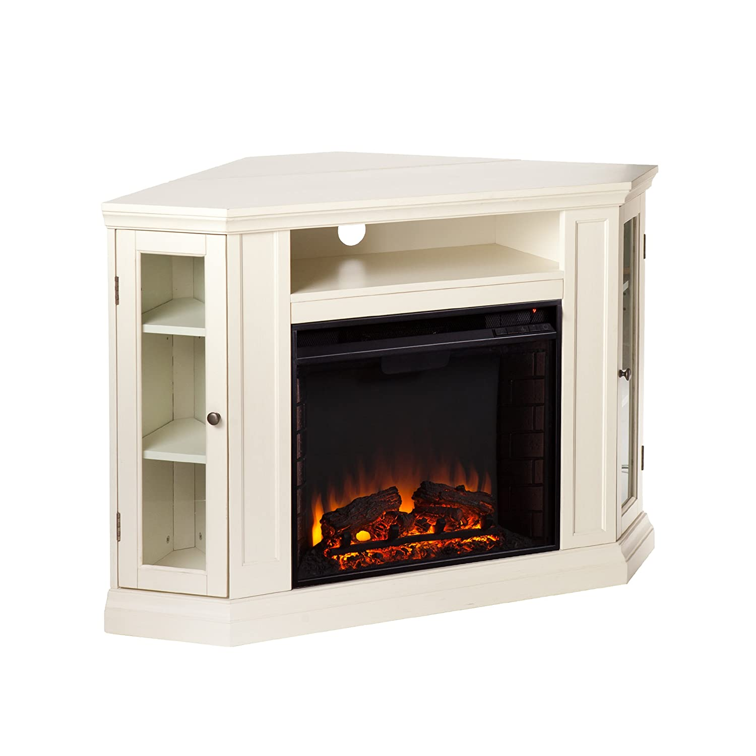 amazon com claremont convertible media electric fireplace ivory