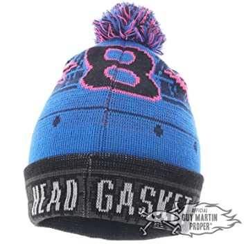 c585548d4ab Guy Martin Proper The Moody Head Gasket Number  8  Bobble Hat Beanie Pom Pom   Amazon.co.uk  Sports   Outdoors