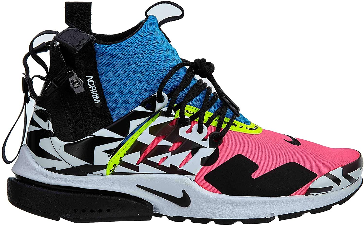 Nike Mens Air Presto Mid Acronym Racer Pink Black-Photo Blue Synthetic
