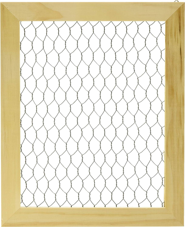 chicken wire frame   30 x 20    farm house frame  chicken wire window frame