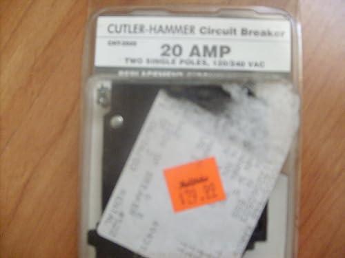 CONNECTICUT ELEC VPKCHT2020 Cutler Hammer Circuit Breaker, 120V, 20-Amp