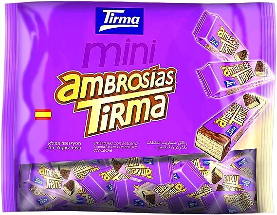 Tirma Ambrosías con Relleno Cubiertas de Chocolate con Leche - 3 Paquetes de 40 Barritas: Amazon.es: Alimentación y bebidas