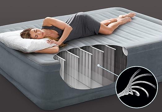 Intex 64414 Fibertech comfortplush - Colchón hinchable, 152 x 203 ...