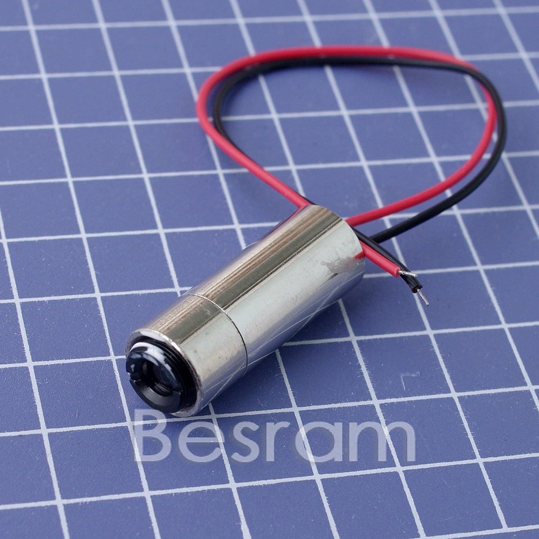 650 nm660 nm 30 mW M/ódulo de diodo de l/ínea l/áser rojo de 12 x 35 mm