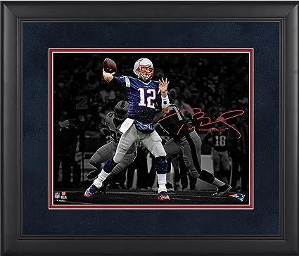 78245326f Tom Brady New England Patriots Framed 11 quot  x 14 quot  Spotlight  Photograph - Facsimile Signature
