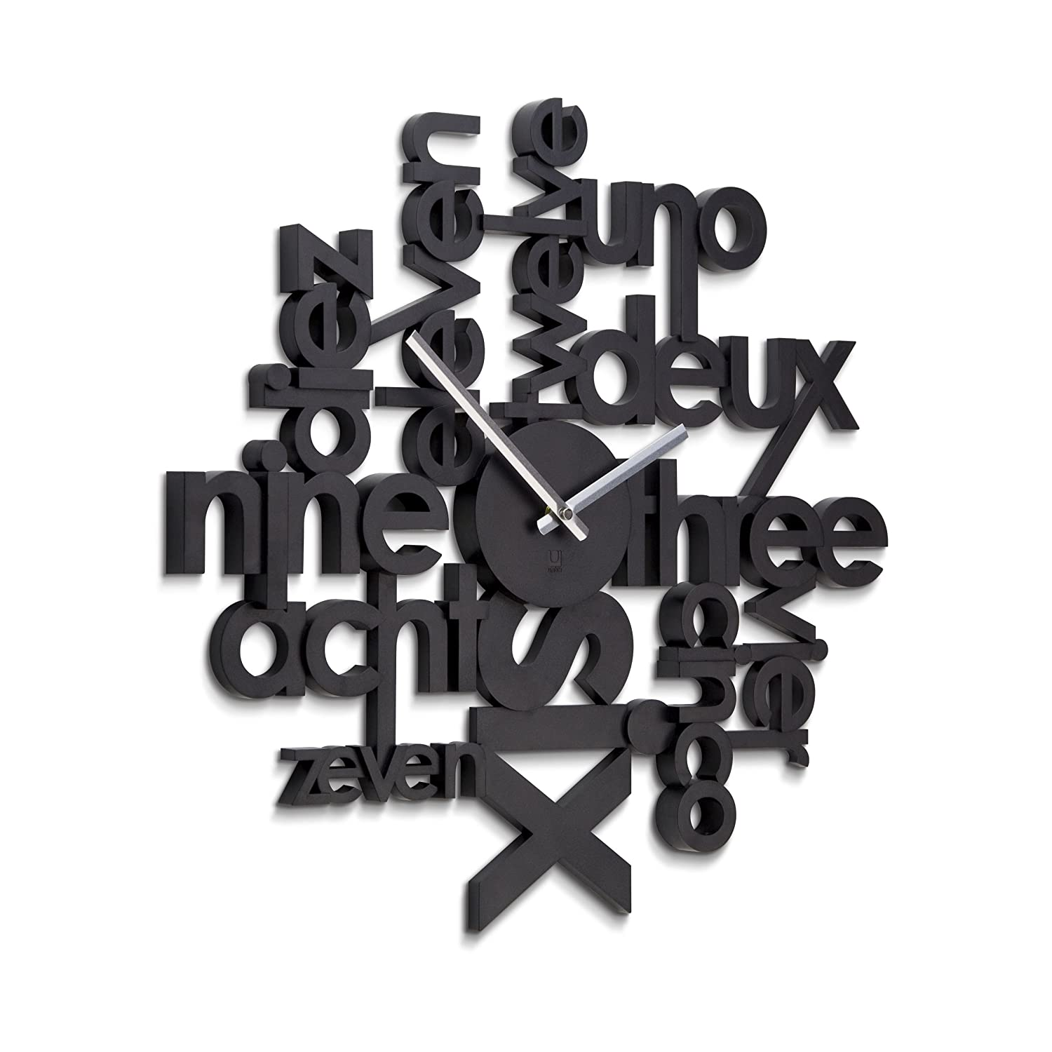 Amazon umbra lingua wall clock home kitchen amipublicfo Gallery