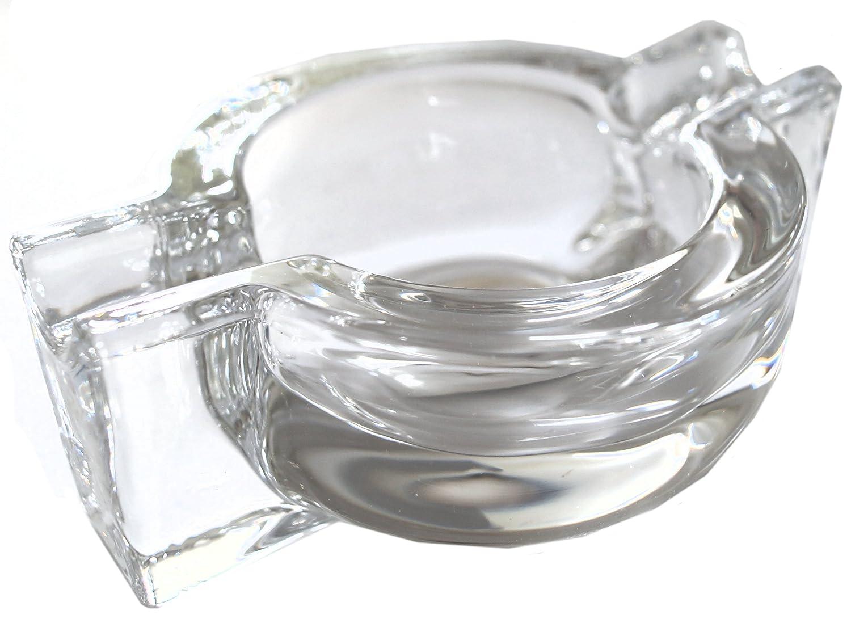 GERMANUS Cenicero de cristal para puros o cigarrillos, o
