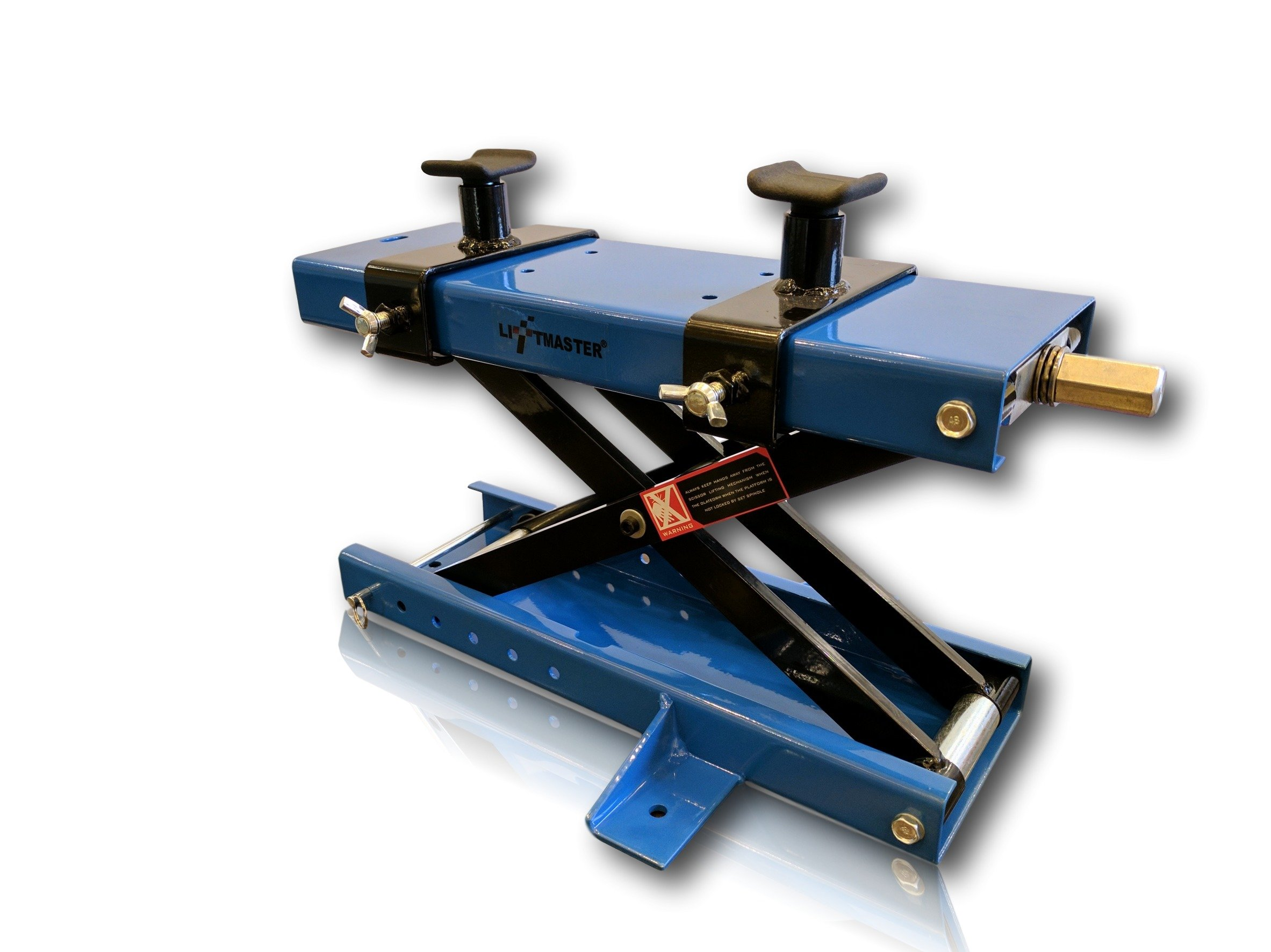 LiftMaster 1100 LB Motorcycle Center Scissor Lift Jack with Safety Pin Hoist Stand Bikes ATVs by LiftMaster (Image #1)