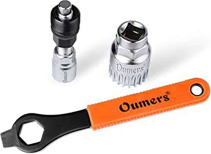 Oumers Bike Crank Extractor/Arm Remover and Bottom Bracket Remover with 16mm Spanner/Wrench. Professional Bicycle Repair Tool Kit