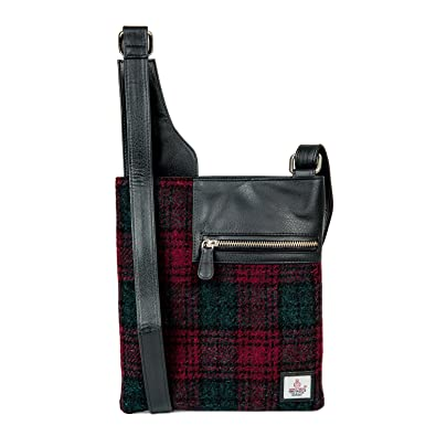 5652e46a0b76 Maccessori Harris Tweed Medium Cross Body Bag (MAROON)  Amazon.co.uk ...