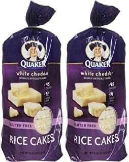 Quaker White Cheddar Rice Cakes, 5.5 oz, 2 pk