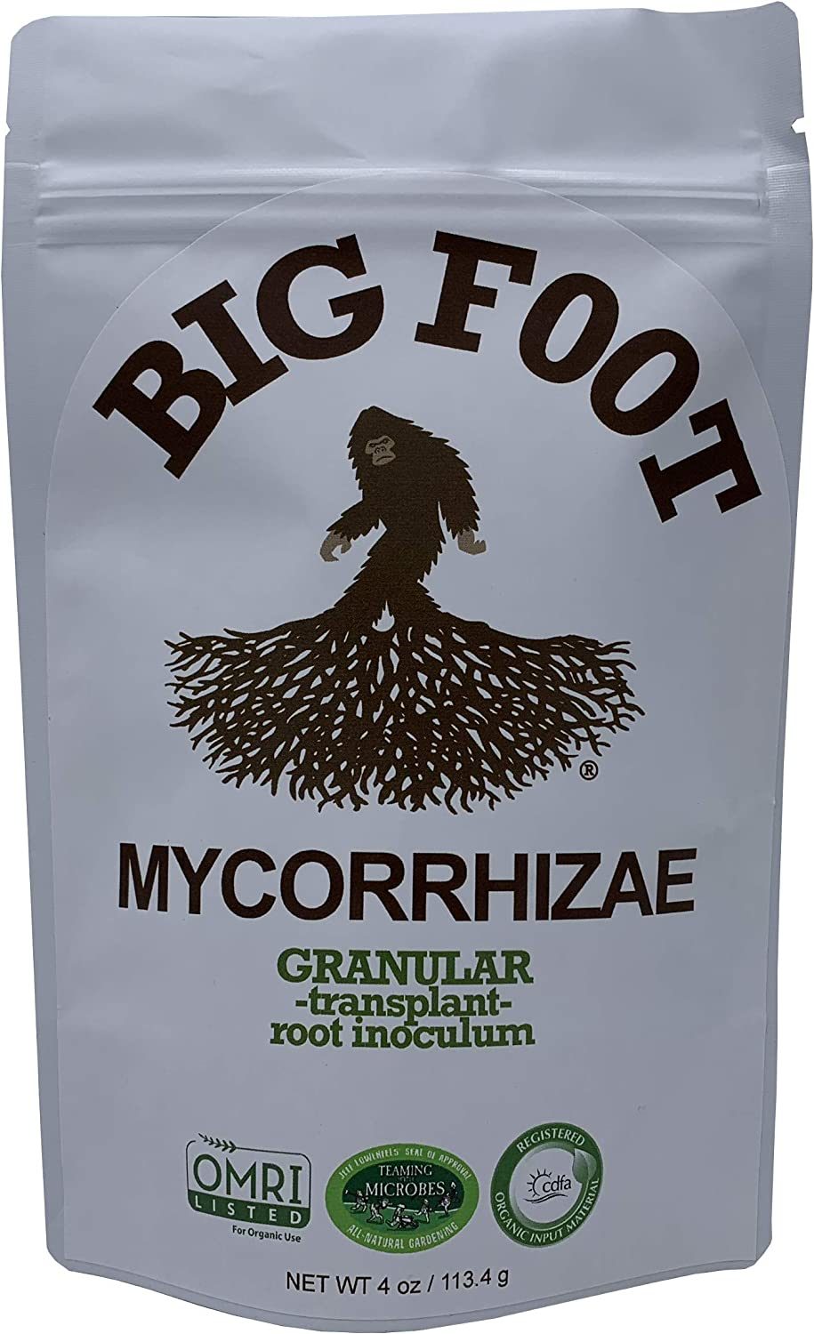 Big Foot Organic Mycorrhizal Granular Fungi Mycorrhizae Inoculant for Plant Root Growth Biochar, Worm Castings, Glomus Intaracides 4 oz