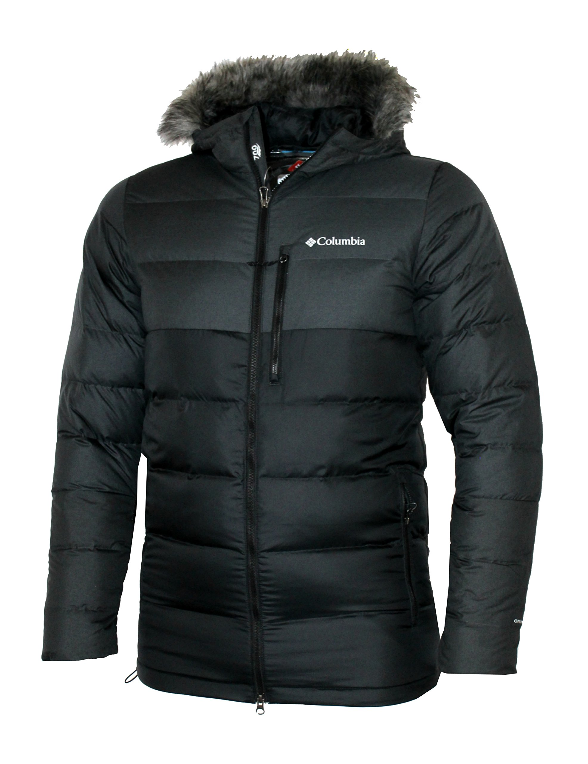 Columbia Mens Northridge Lodge 700 fill Down Hooded Omni Heat Winter Puffer Jacket (Black, S)