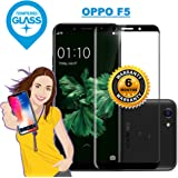 iONiQ OPPO F5 Black Tempered Glass Screen Protector Guard With Installation Kit