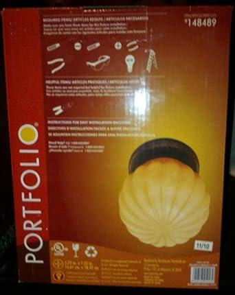 Portfolio flushmount ceiling light fixture amber glass globe portfolio flushmount ceiling light fixture amber glass globe bronze finish aloadofball Images