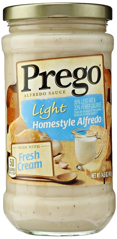 Amazon.com : Prego Alfredo Sauce, Light Homestyle, 14.5 Ounce ...