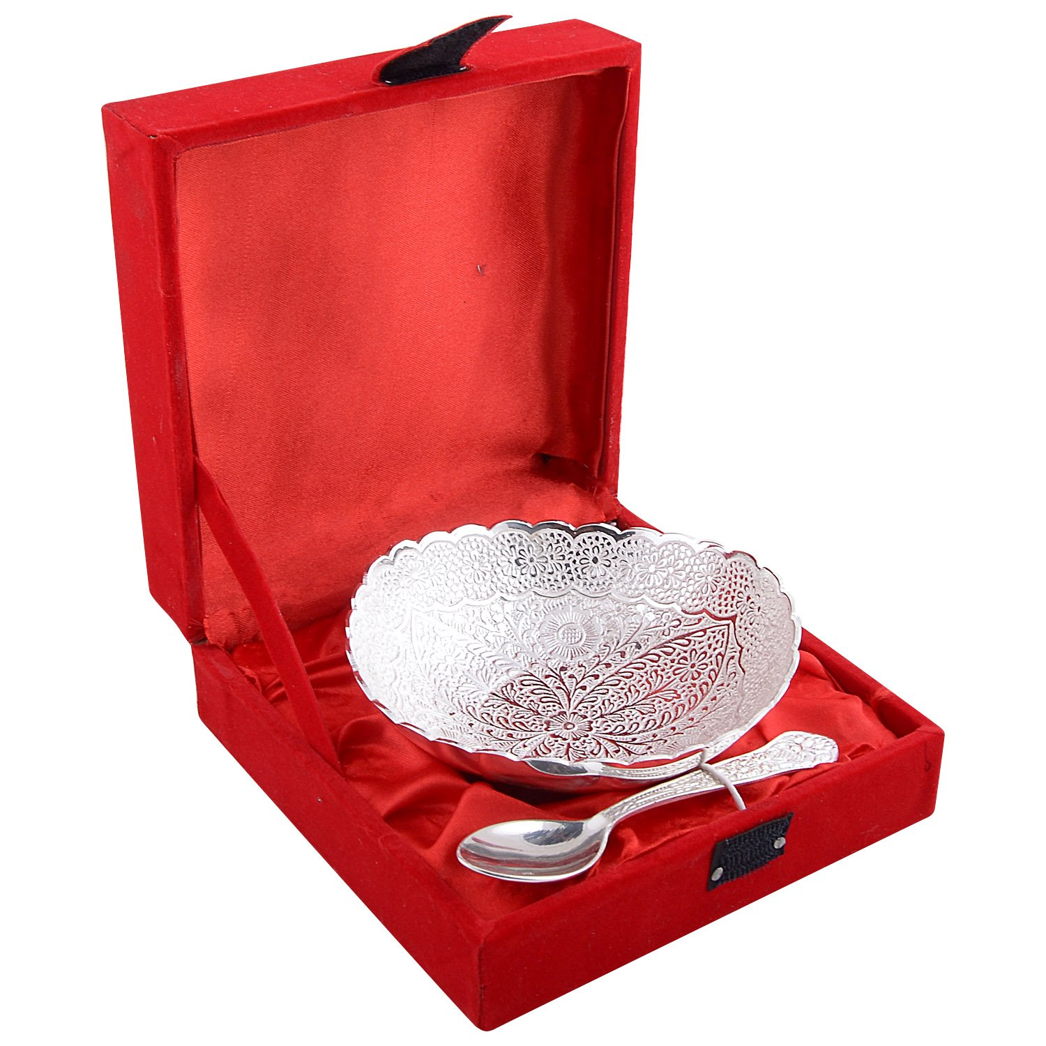 Buy German Silver Tray Shape Dish Gift Set Online At Low Prices In