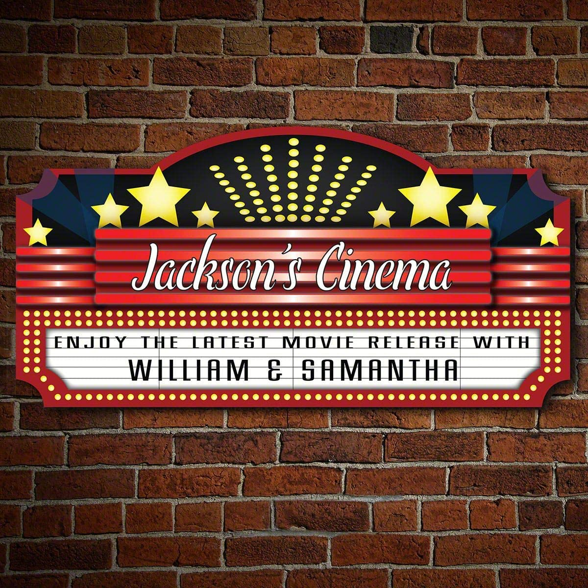 Home Theater Marquee Personalized Sign (Custom Product)