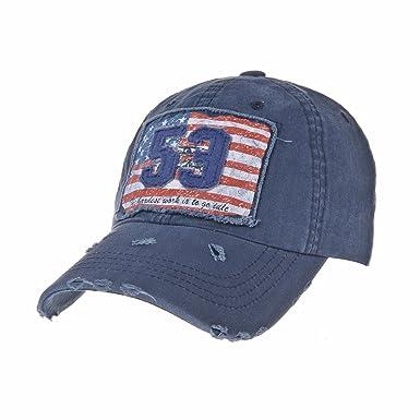 WITHMOONS Gorras de béisbol Gorra de Trucker Sombrero de Baseball Cap Distressed American Flag Trucker Cap