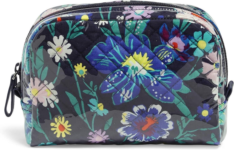 Vera Bradley Women's Organizer Medium Cosmetic Makeup Bag, Bordeaux Blooms, One Size