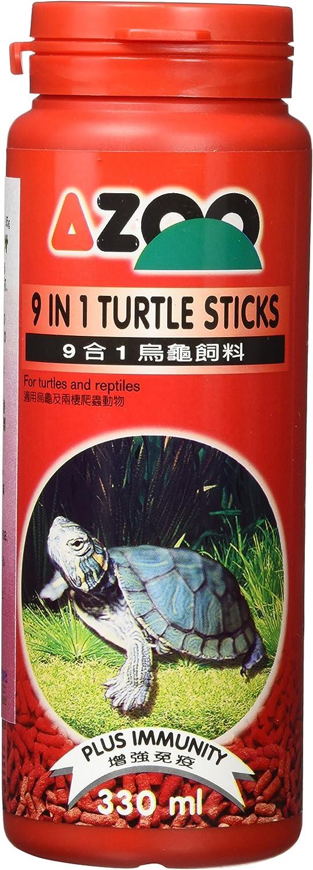 AZOO 9 in 1 Turtle Sticks 95g (330ml) for Turtles and Reptiles Aqurium Food
