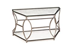 Magnussen T2060 Nevelson Metal Demilune Sofa Table