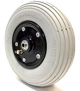 Silla – Rueda para cubiertas 200 x 50, aire, neumáticos gris con 2 de