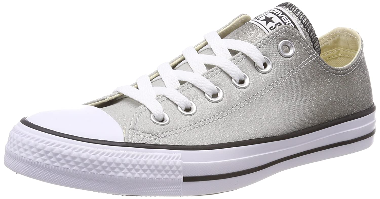 Converse Womens Chuck Taylor All Star Ombre Metallic Sneaker B07369J3BP 3 UK|Ash Grey/Black/White