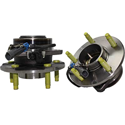 Detroit Axle 513189 Wheel Bearing Hub Assembly Front Driver and Passenger Side 2-PC for Chevrolet Equinox Pontiac Torrent Saturn Vue 2002 2003 2004 2005 2006 2007: Automotive