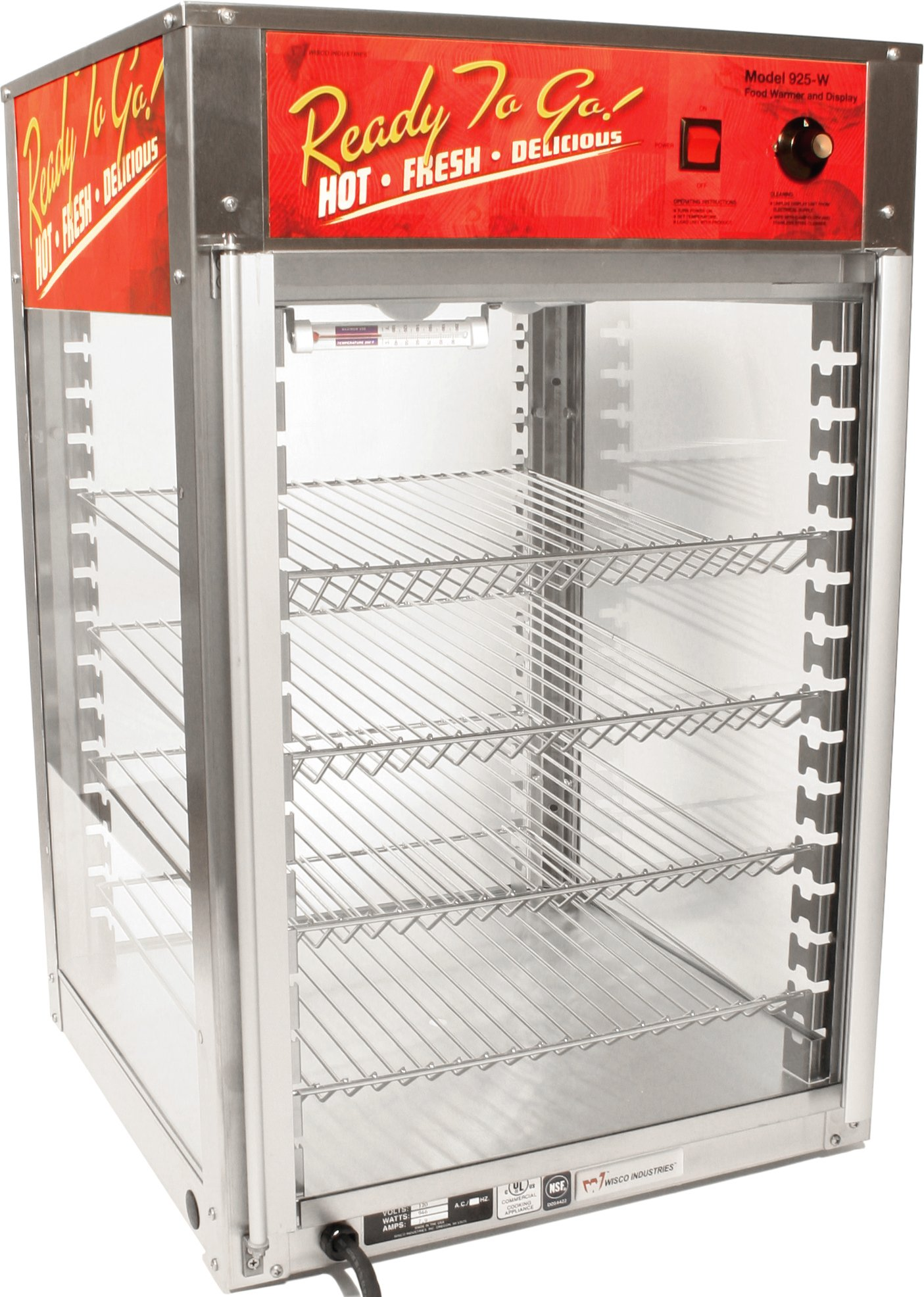 Wisco 00925W-001 Non-Humidified Cabinet with 4 Adjustable Shelves