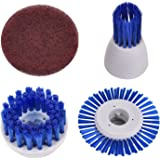 CUH Power Scrubber Replacement Brushes and Scouring Pad ( 3 Brushes & 1 Scouring Pad)
