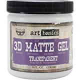 Prima Marketing Art Basics 3D Matte Gel, 8-Ounce, Transparent