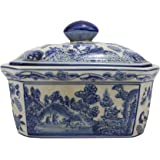 Blue and White Blue Willow Porcelain Candy Box