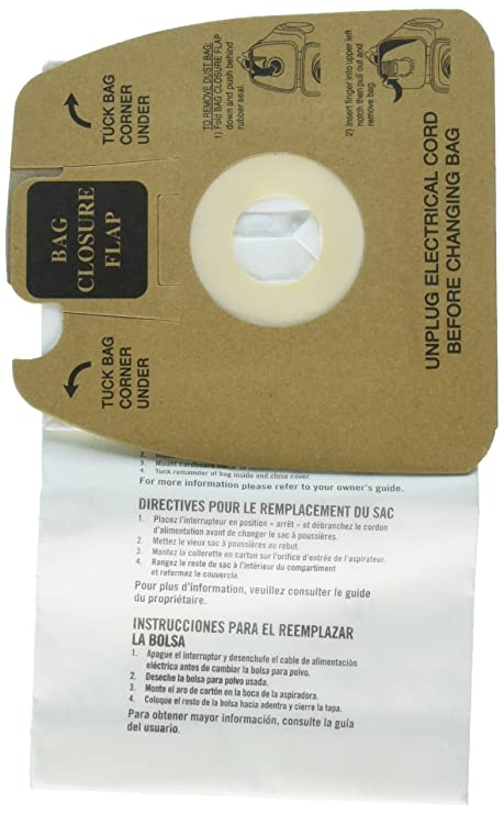 Electrolux Disposable Dust Bags w/Allergen Filter, White