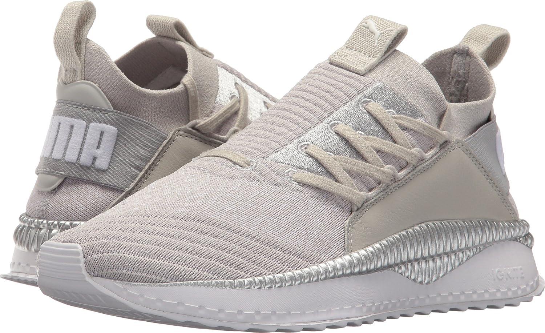 PUMA Women's Tsugi Jun Sneaker B073WHVSR6 5.5 B(M) US|Gray Violet/Puma White/Silver