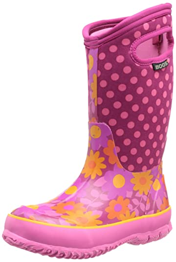 Bogs Classic Flower Dot Waterproof Insulated Rain Boot (Toddler/Little  Kid/Big Kid
