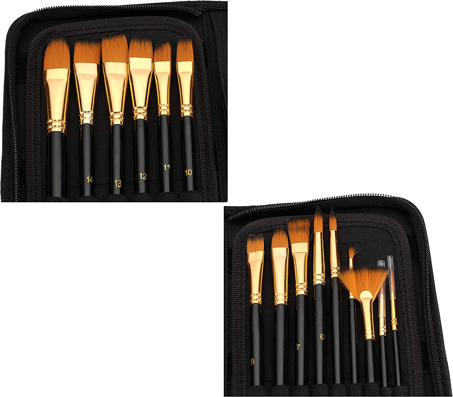 Acrylics and Oil Paintings CADITEX Artist Paint Brush Set for Body Paint