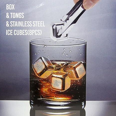 Remax PC de 8 piedras Acero inoxidable Cubos de hielo reutilizable ...