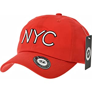 6f9fab4b318 WITHMOONS Baseballmütze Mützen Caps Kappe Baseball Cap NYC Lettering Simple  Plain Cotton Hat CR1921