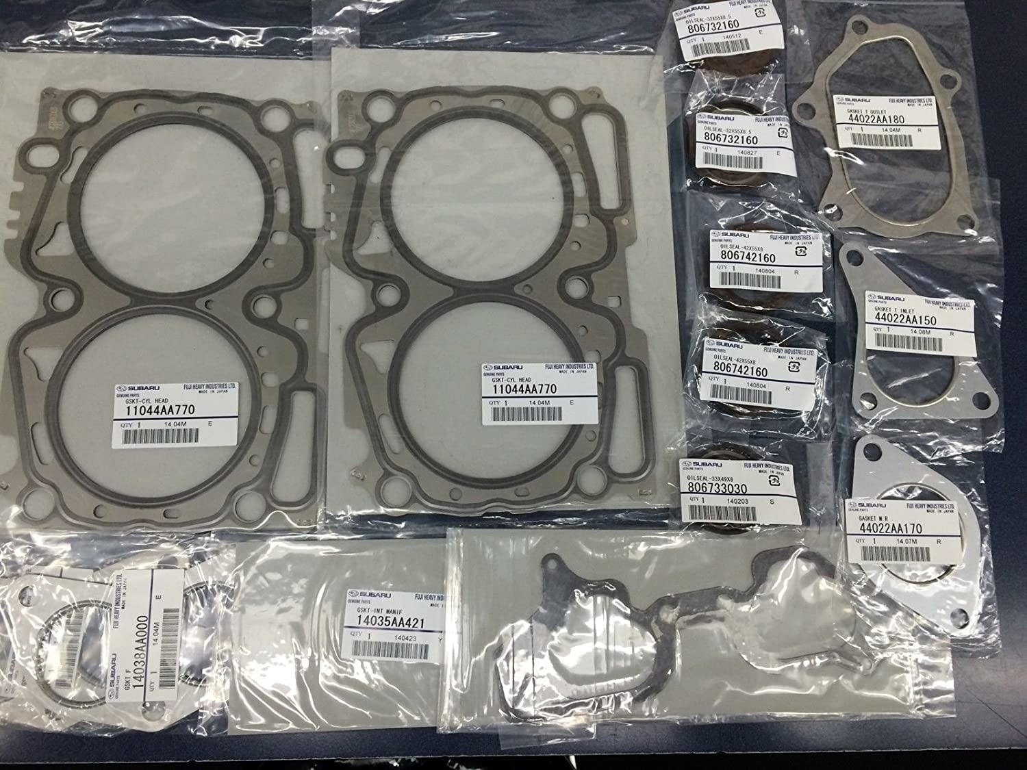 11044AA770 x2 Set of 2 Genuine OEM Subaru SOHC Cylinder Head Gasket