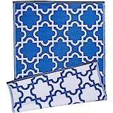 DII Moroccan Indoor/Outdoor Lightweight, Reversible, & Fade Resistant Area Rug, Use For Patio, Deck, Garage, Picnic, Beach, C